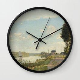 Argenteuil by Claude Monet Wall Clock