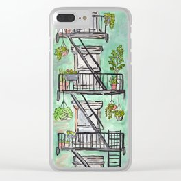 NYC Fire Escape Clear iPhone Case