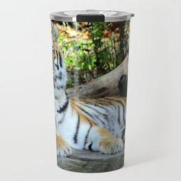Lounging Tiger 2 (Horizontal) Travel Mug
