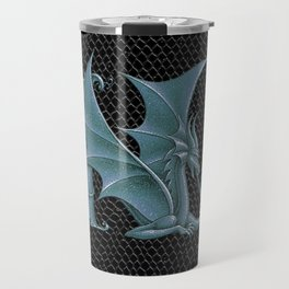 """Dragon Letter N, from """"Dracoserific"""", a font full of Dragons Travel Mug"""