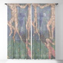 The Vegetarian Dance Fine Art Parody Sheer Curtain