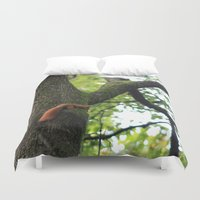 runner Duvet Covers featuring Runner by Cristina Cavallari