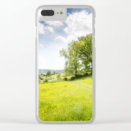 Idyllic Cotswold Summer Landscape Clear iPhone Case