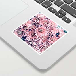Flower Photography Pink Blossoms Spring Easter Pattern Sticker