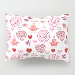 Cute set of hearts and symbols for a Valentine's day or wedding gift Pillow Sham