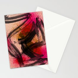 Japanese Style Abstract on Apricot Stationery Cards