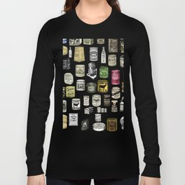 Vintage Victorian food cans Long Sleeve T-shirt