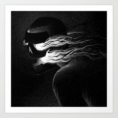 Drawlloween 2015: Mask Art Print