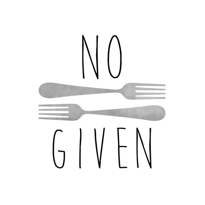 No Forks Given Duvet Cover