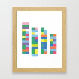 Color Code Blocks Framed Art Print