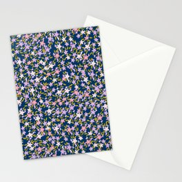 Garden Ditzy - Purple Stationery Cards
