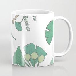 Green Ginko Branches Coffee Mug