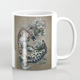 Snow leopard 2 background Coffee Mug