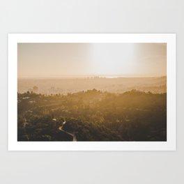 Golden Hour - Los Angeles, California Art Print