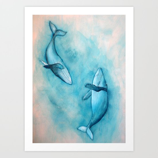 Songs of the Humpback Whale Art Print