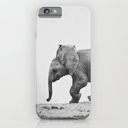 A Cute Baby Elephant Running iPhone Case