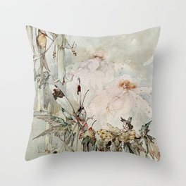 """Exotics at Play"" by Duncan Carse Throw Pillow"