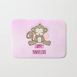 Chimply Marvelous Cute Monkey Pun Bath Mat