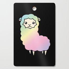 Rainbow llama Cutting Board