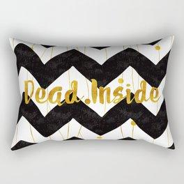 Dead Inside (Black & Gold) Rectangular Pillow