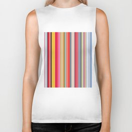 Colorful lines print Biker Tank