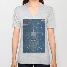 Acme Spherical Bomb vintage Blueprint Unisex V-Neck