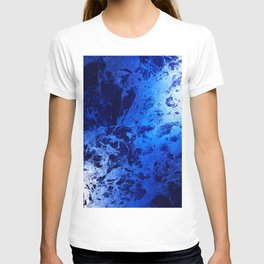 Blue Marble Dream Abstract T-shirt