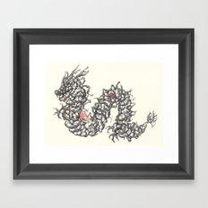 Black dragon Framed Art Print