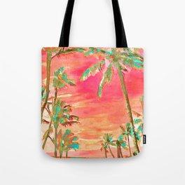 Vintage Hawaiian Beach, Mauna Lani Bay Tote Bag