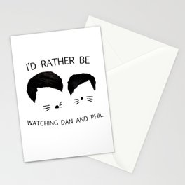 I'd rather be watching Dan and Phil Stationery Cards