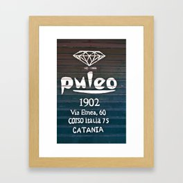 Via Etnea in Catania at the Isle of Sicily Framed Art Print