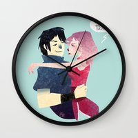 sasuke Wall Clocks featuring Aren't they lovely. by Serena Rocca