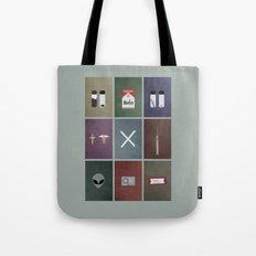 X-Files colors Tote Bag