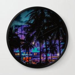 Miami By Night | Fine Art Travel Photography Wall Clock