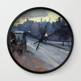 Arthur Streeton - Hoddle St., 10 P.m. - Digital Remastered Edition Wall Clock