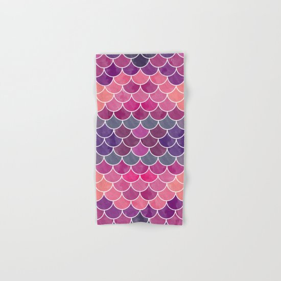 Watercolor Lovely Pattern VV Hand & Bath Towel