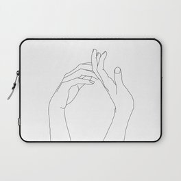 Hands line drawing illustration - Abi Laptop Sleeve