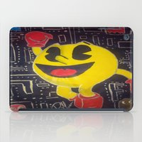 pacman iPad Cases featuring pacman by RaieshaM