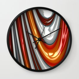 Orange Drip Wall Clock