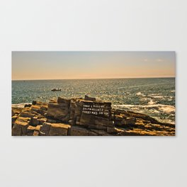Annie Mcguire shipwreck Portland,Maine Canvas Print