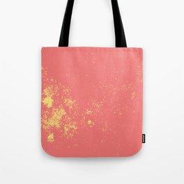 Coral Abstract Tote Bag