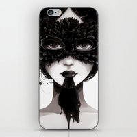 la iPhone & iPod Skins featuring La veuve affamee by Ludovic Jacqz