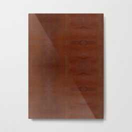 Burnt Orange Leather Metal Print