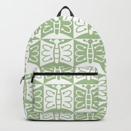 Mid Century Modern Butterfly 771 Sage Green Backpack