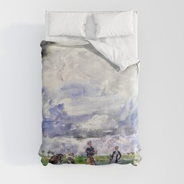 Thomas Hennell - Figures working in a field - Digital Remastered Edition Comforters