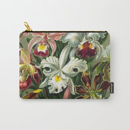 Victorian Orchids Floral Print-Ernst Haeckel Carry-All Pouch