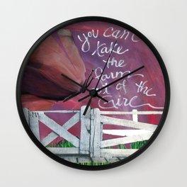 Farm Girl by Seattle Artist Mary Klump Wall Clock