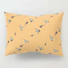 Flying Birds Upon Sunrise Pillow Sham