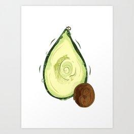 Amazing Avocado Art Print