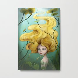 Under the water Metal Print